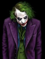 Joker - Heath Ledger by LabrenzInk