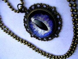Violet Dream - Elegant Dragon Eye - Glow Nebula by LadyPirotessa