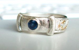 blue spinel ring by nonomie
