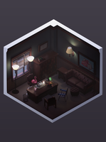 Miniature Detective Office by ReekoArk