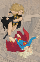 Supergirl VS Nuclear Woman by Autumn-Sacura