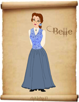 Western Disney - Belle - Colored Version by daKisha