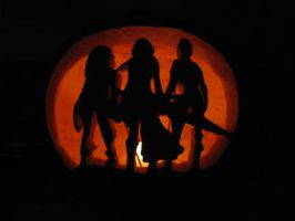 Final Fantasy X-2 Pumpkin by SheerBliss