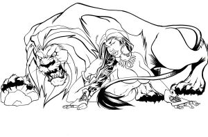 A Lioness and her Beast Inks by 5000WATTS