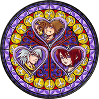 Three of Hearts Stained Glass by Maleficent84