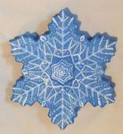 Snow Flake - Plaster Painting by MadamMichi
