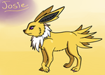Josie the Jolteon by Thundrbolt
