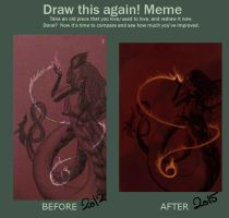 Before and After: The Red Naga by Kiki-Tayler
