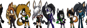 All of my characters ever created by eternityspark