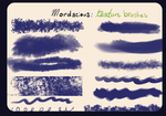 Mordacious Texture Brushes by desperatedeceit