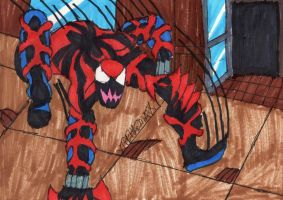 Spider-Carnage on the Prowl by ChahlesXavier