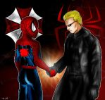 spiderman and wesker by Tocatl