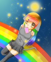 Nyan Cat Inspired Girl by Kiakogeoscch