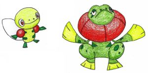 flying frogs OLD by FrozenFeather