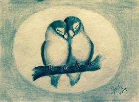 Two Sweet Love Birds by SammfeatBlueheart