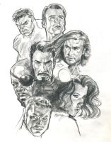 Portrait Studies: The Avengers by guinnessyde
