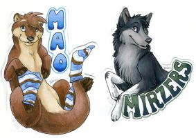 Mao and Mirzers Badges by Idess