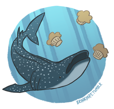 Whale Shark + Muffins by pyuan