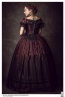 1850 Ball gown with cage crinoline by Esaikha