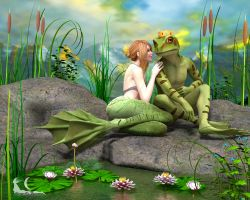 Frog Prince and His Bride by DisparateDreamer