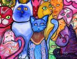 Colorful Cats 9 by jenthestrawberry