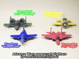 Papercraft Advance Wars Fighters so far by ninjatoespapercraft