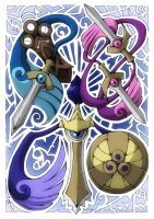Honedge! Doublade! Aegislash! by PhaseChan
