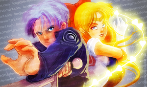 Trunks and Sailor Venus by longlovevegeta