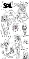 sol many doodles by ewya