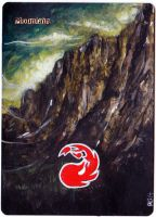 Magic Card Alteration: Mountain 4/8/14 by Ondal-the-Fool