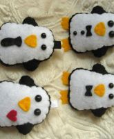 Business Class Penguin Plushes by P-isfor-Plushes