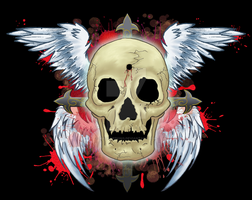 Skull cross by MATicDesignS