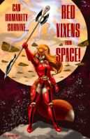 [Commission] Red Vixens From Space by RJBartrop