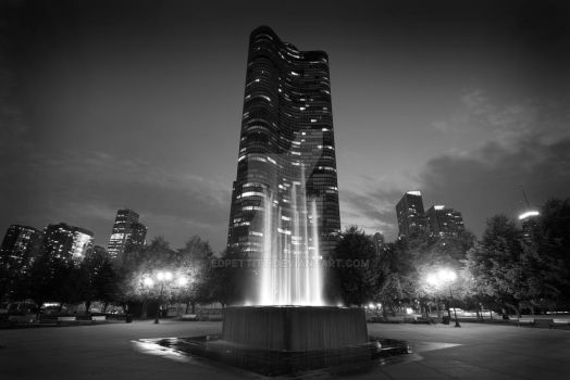 Lake Point Tower, Black and White by EdPettitt