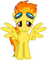 frontal Spitfire Vector suitless by BaumkuchenPony