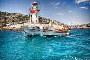 Boat and Lighthouse by fL0urish