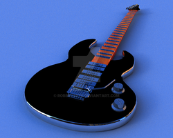 Ibanez Eletric Guitar Modeler and paint by robertarts