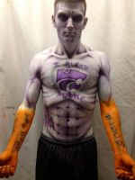 KSU Themed Bodypaint 01 by OldirtyZombie