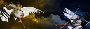 The Fall of Lucifer by ManueleLaPuca