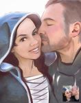 Commission  - Knight and Princess portrait by Gregory-Welter