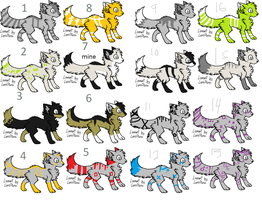 Coyo wolf adoptables 1 by Icey-adopts