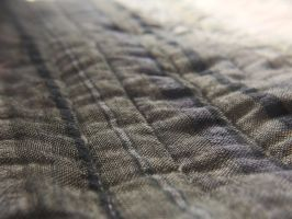 Macro shot of my bed covers by Sajextryus