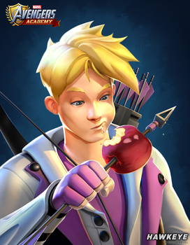 Avengers Academy--Hawkeye Portrait by DNA-1