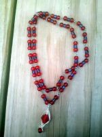 Strawberry Wine Necklace. by WyckedDreamsDesigns