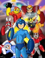 Mega Man Tribute by Mawnbak