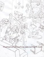 Zombie attack by themalletofjustice