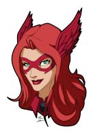 Crimson Valkyrie Alternate Costume Headshot by CrimsonVlkyrie