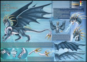 Electric Dragon Ref Sheet by DrakainaQueen