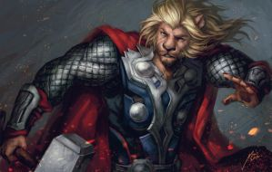Avenger-Lion Thor by Scyao