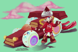 WIR: Kitkathy Krunchinger by Purp1eDragon